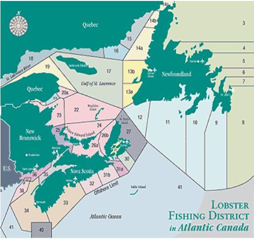 Atlantic Canada LFA map