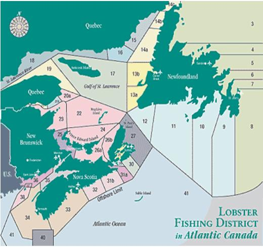 Atlantic Canada LFA map