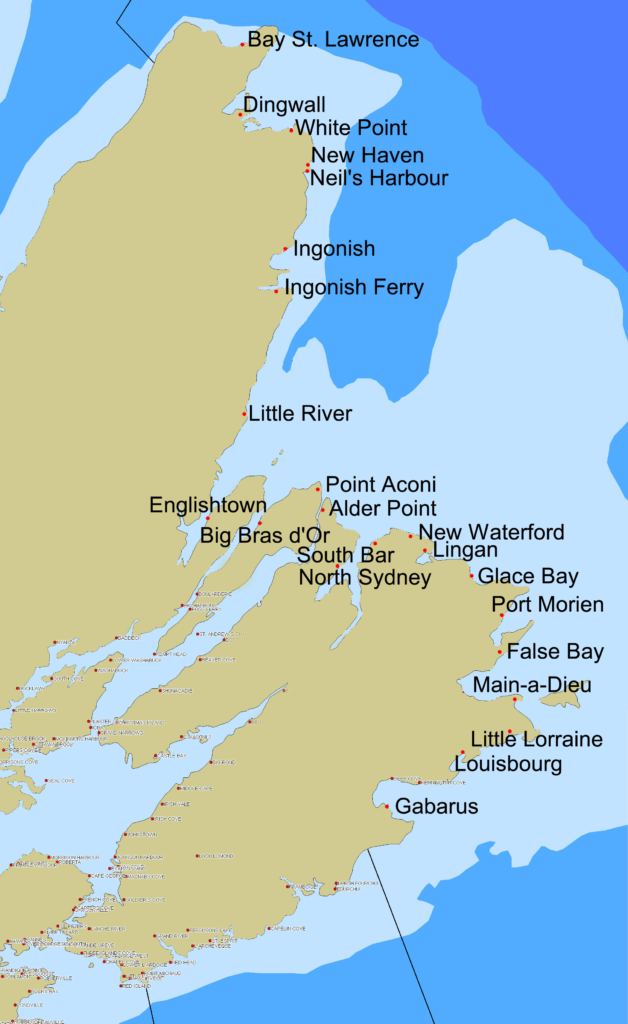 Where do we fish? The locations marked above are the ports in LFA27 that we fish in.
